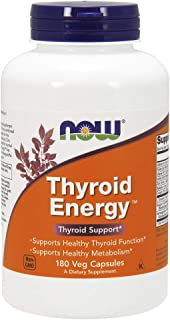 NOW Supplements, Thyroid Energy, Iodine and Tyrosine plus Selenium, Zinc and Copper, 180 Veg Capsules