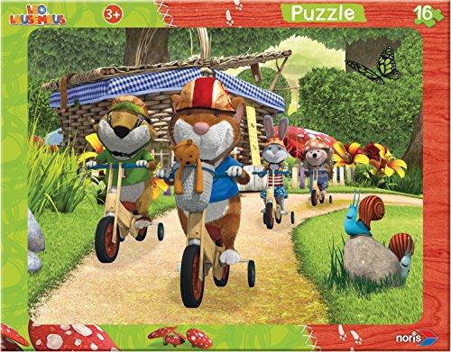 Noris Spiele 606031430 - Leo Lausemaus, 16 Teile Rahmenpuzzle, 32 x 24 cm