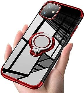 iPhone 11 ケース リング クリア 透明 磁気カーマウントホルダー スタンド メッキ柔らかい殻 滑り防止 耐衝撃カ 黄変防止 軽量 薄型 TPU 全面保護 超耐久スクラッチ防止