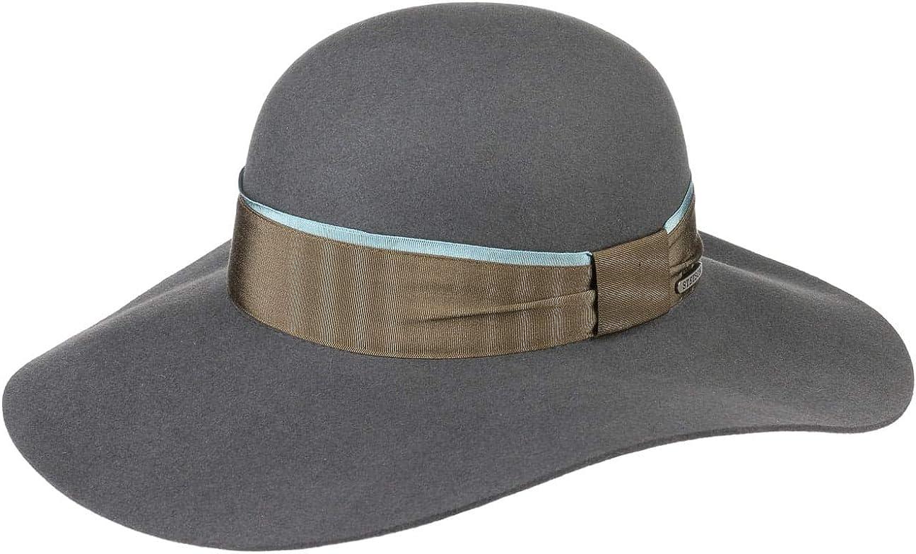 Stetson Elegantina Fur Felt Floppy Hat Women -
