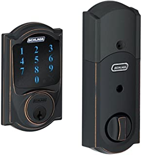 Schlage Connect Camelot Touchscreen Deadbolt Smart Lock w/ Alarm (Aged Bronze)