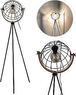 Lampadaire nouveauté flammes Mesh Rétro Lampe à Pied,Ø 34 cm E27 abat-jour grillagé,360°Orientable, Réglable en hauteur ,L...