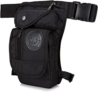 Hebetag Nylon Drop Leg Bag for Men Women Tactical Military Motorcycle Bike Cycling Riding Travel Outdoor Sports Waist Fanny Pack Bags Black