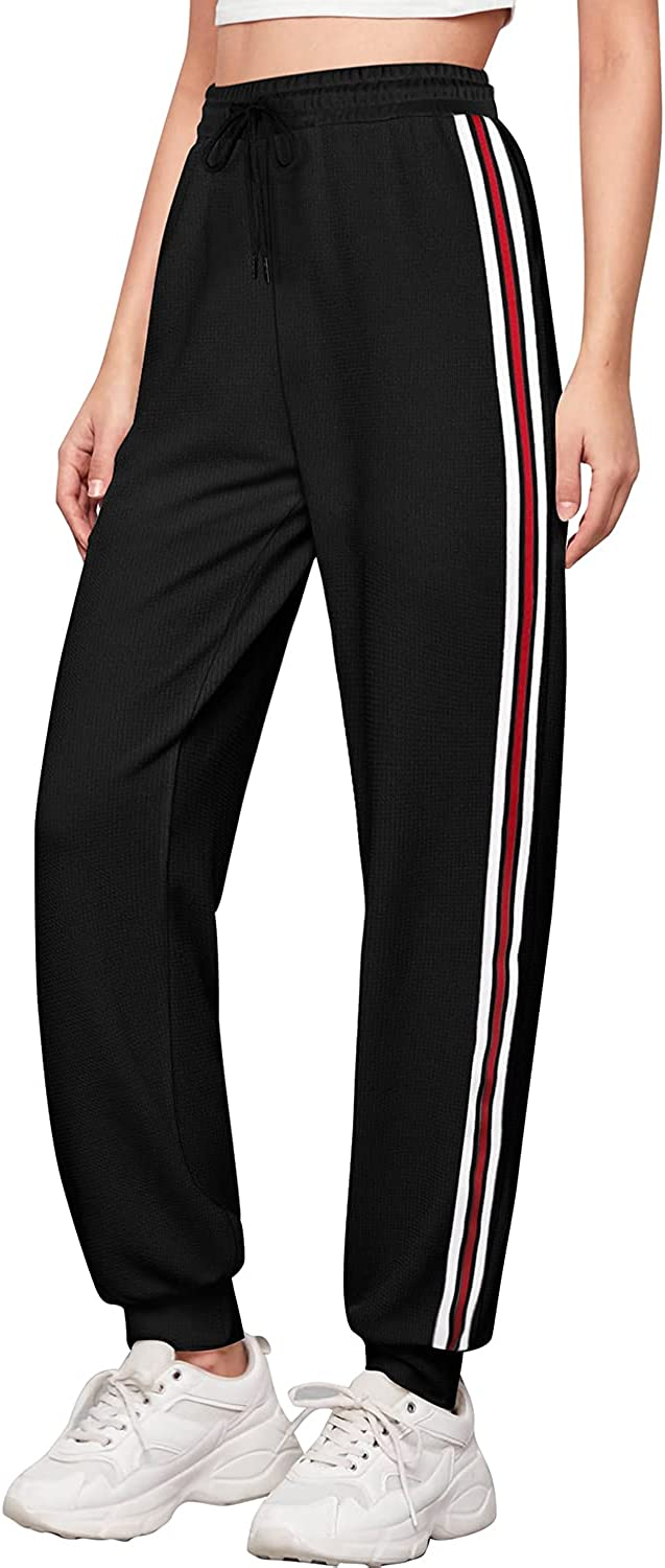 SMALNNIE Women's Joggers Pants Drawstring Running Sweatpants with Pockets Lounge Wear S-2XL