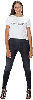 MAMAJEANS Lima - Jeggings Vita Alta, Jeans da Donna Skinny Elasticizzati. Massima comodità, Relax e Stile - Made in Italy