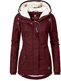XIAOL Abrigo cálido para mujer, grueso, con capucha, impermeable, largo de invierno, ajustado, forrado, chaqueta de invierno