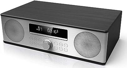 SHARP XL-B715D BK Zertifiziertes All In One Soundsystem mit UKW Radio und Bluetooth, USB, DAB/DAB, CD, Kompaktanlagen, Bluetooth-Out, 90W