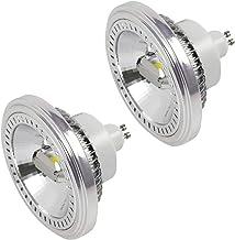 MENGS - Juego de 2 bombillas LED (GU10, ES111, 15 W, LED AR111, repuesto para 120 W, 1400 lm, 120°, 6000 K, AC 85-265 V, 2 COB, con material de aluminio)