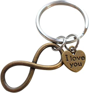 bronze infinity keychain
