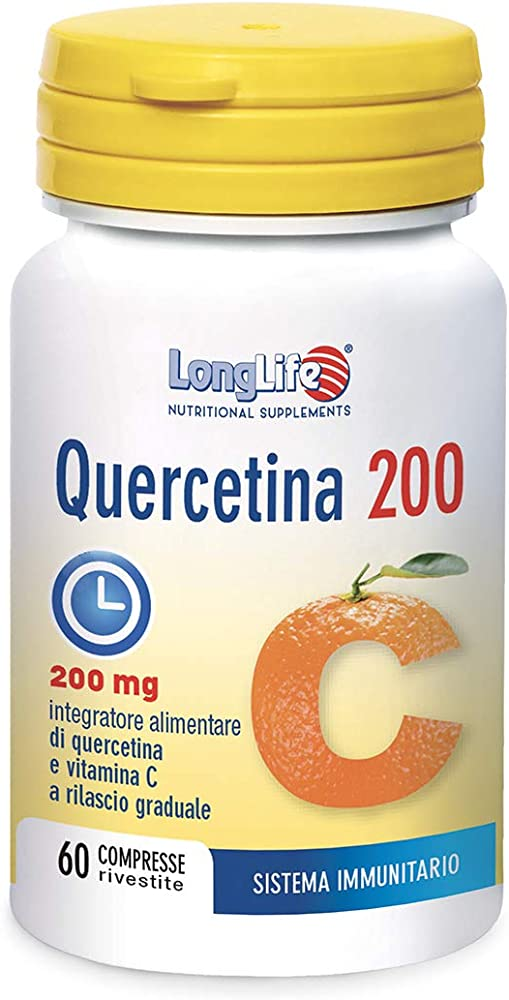 Longlife quercetina 200 mg - 45g con vitamina c a rilascio graduale 8054521004032