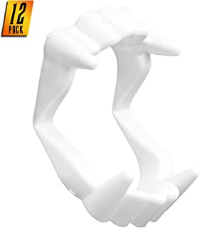 Skeleteen White Sharp Vampire Fangs - Dracula Monster Teeth for Party Favors and Supplies - 12 Pack