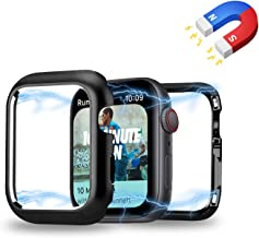 Mysail Magnetic Adsorption Technology Aluminum Metal Frame Protective Shock-Proof Bumper Case Cover Compatible with iwatch Series 4 (Black, 44 MM)
