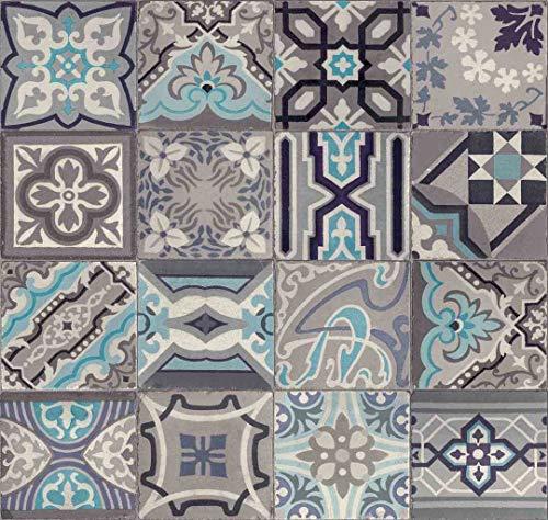 d-c-fix Ceramics Meterware Wandbelag Tapete Fliesen Wanddekoration Muster und Größe wählbar 67,5 cm x 200 cm Simenta 270-0169 abwaschbar