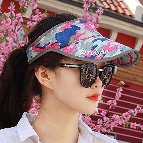XINQING-MZ Hoed het meisje rijden versie van de lege top camouflage cap zwarte hoeden schaduwrijke zonnekap paar pet gemeenschappelijk tussen mannen en vrouwen.