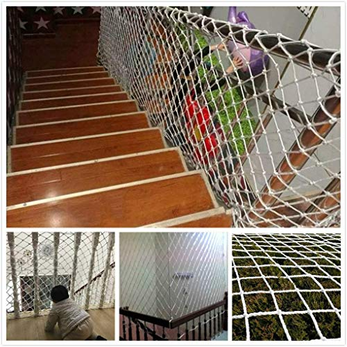 YXB Safe Net Outdoor Motion Klimmen Net Wit Kinderen Veiligheid Net, Beschermingsnet, Touw Netto Interieur Klimmen Outdoor Decoratie Netto Balkon Banister Trappen Anti-val Netto Balkon Raam Opknoping Br