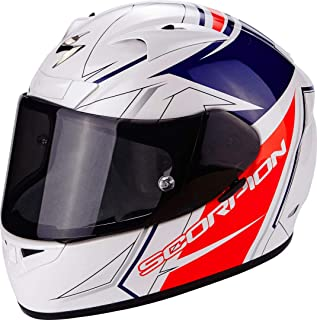Scorpion Casco Moto EXO-710 AIR Line, White/Red/Blue, XXL