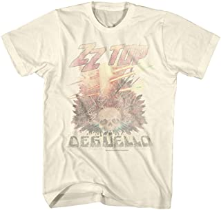 ZZ Top Rock Band Music Group Vintage Style Deguello Faded Logo Adult T-Shirt Tee