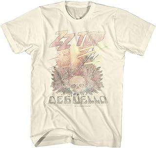 ZZ Top Rock Band Music Group Vintage Style Deguello باهت شعار تي شيرت للكبار