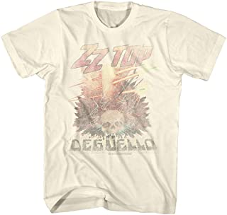 ZZ Top Rock Band Music Group Vintage Style Deguello Faded Logo Adult T-Shirt Tee Beige