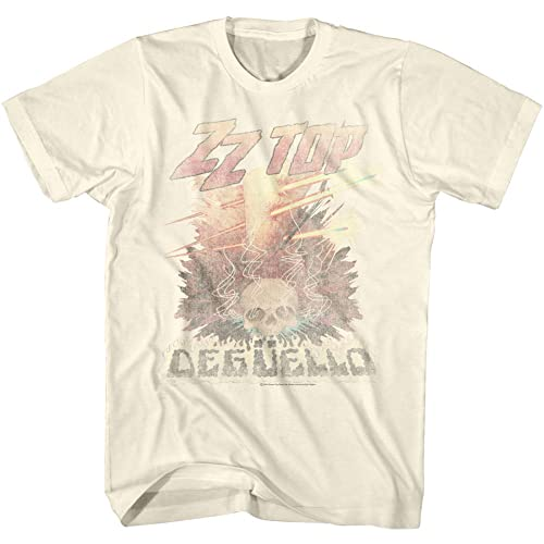 3a5067b3ce3d ZZ Top Rock Band Music Group Vintage Style Deguello Faded Logo Adult T-Shirt  Tee