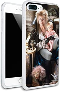 Labyrinth Goblin King On Throne with Baby David Bowie Jareth Toby Protective Slim Fit Hybrid Rubber Bumper Case for Apple iPhone 7 and 7 Plus