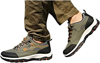 SUGEER Men's belt hiking outdoor running shoes Fashion Outdoor Non-Slip Sport Shoes Lace-Up Mountaineering Sneakers