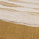 U'Artlines Teppiche aus Baumwolle Maschinenwaschbare mit Quaste Gewebte Baumwolle Wurf Teppiche Läufer für Küche, Wohnzimmer, Schlafzimmer, Waschküche, Eingangsbereich(60 * 130 Gelb) - 8