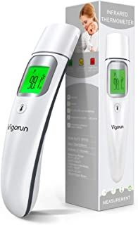 Vigorun Infrared Thermometer for Adults and Kids , Forehead and Ear Digital Thermometer for Fever with Feve...