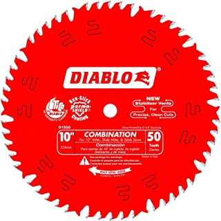 Freud D1050X Diablo 10-Inch 50-tooth ATB Combination Saw Blade with 5/8-Inch Arbor and PermaShield Coating (2 Pack Basic)
