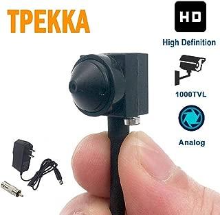 Mini Spy Hidden Camera HD 1000TVL Small Portable Wired Spy Camera Pinhole Convert Camera BNC Video Camera Nanny Cam for CCTV Security Cam Indoor Home Survelliance System Hidden Cam DVR FPV by TPEKKA