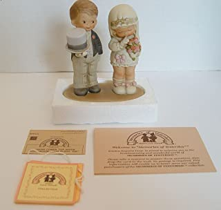 Enesco Memories of Yesterday 1988 Here Comes The Bride & Groom God Bless 520896