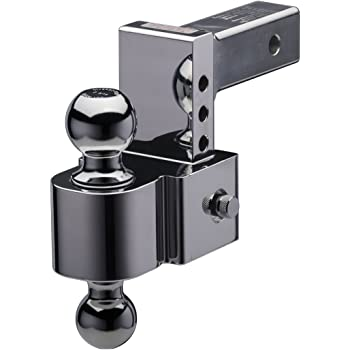 and Chrome Plated Balls Fastway Flash STBM DT-STBM6400 Adjustable Silent Tow Ball Mount with 4 Inch Drop 2 Inch Shank