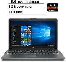 HP 2019 Premium Pavilion 15.6 Inch HD Laptop (AMD 3 2200U 2.5GHz up to 3.4GHz, 8GB DDR4 RAM, 1TB HDD, Bluetooth, WiFi, Windows 10) (Renewed)