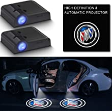 2Pcs Car Door Logo Light Projector for Buick,LED Wireless Ghost Shadow Lights Lamp,Laser Door Welcome Courtesy Puddle Ligh...