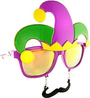 Sunstaches Mardi Gras Sunglasses, Instant Costume, Party Favors, UV400