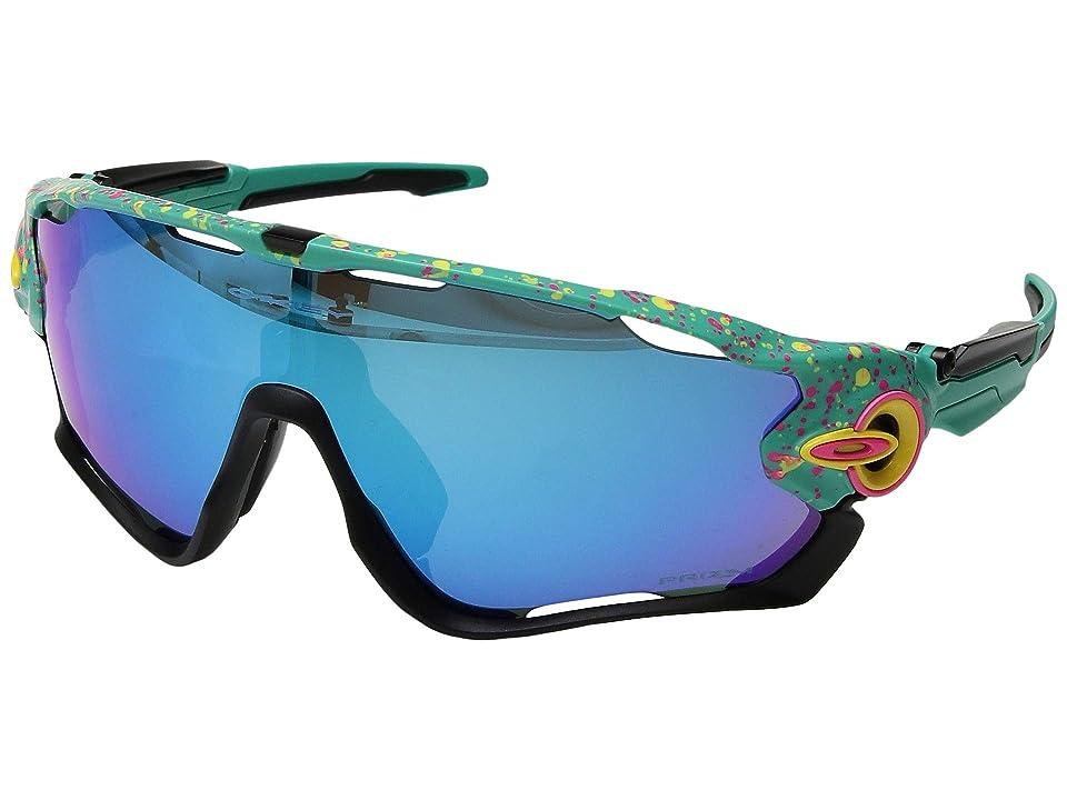 Oakley Jawbreaker (Splatter Celeste/Prizm Sapphire) Sport Sunglasses