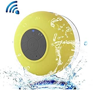 KJRJL Mini Bluetooth Speakers, Waterproof Bluetooth 3.0 Shower Speakers, Hands-Free Portable Speakers, Built-in Microphone, Control Buttons and Special Sucker for Shower, Bathroom and Outdoor