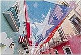San Juan Puerto Rico - Rompecabezas de 1000 Piezas de Flag Above City...
