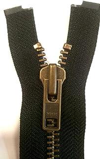 Unbekannt YKK Reißverschluss starker 8 mm 1 Weg teilbar schwarz 70 cm Metall Metallzähne