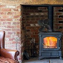 PITCHBLA 60 ° C-400 ° C ajusta automáticamente grande de calor del flujo de aire silencioso Desarrollado calor Desarrollado Ventilador Estufa de madera de la consumición baja eficiencia