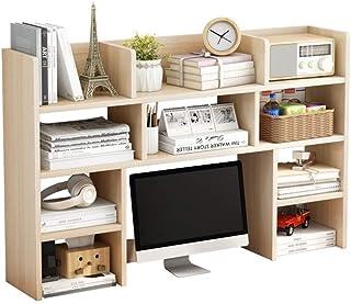 Bibliothèque de bureau Affichage en bois étagère de bureau Organisateur Bureau Support de rangement Accueil Décor polyvale...