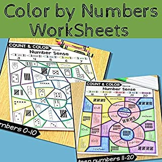 Color By 1-20 Number Sense Activities Homeschool PDF electronic file JoinBuy