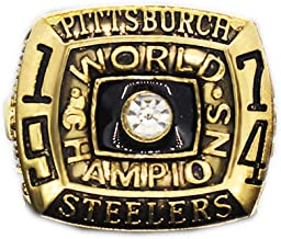 Gloral HIF 1974 Pittsburgh Steelers Super Bowl Championship Ring Collectible for Gifts Size 11 Without Box