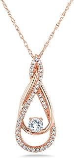 Kobelli Diamond Looping Pendant and Chain 3/8ct TDW in 10k Gold