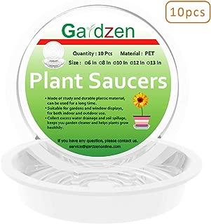 Gardzen Heavy Duty Clear Plastic Plant Saucers, Flower Pot Tray - Excellent for Indoor & Outdoor Plants (6-Inch, 10-Pack)
