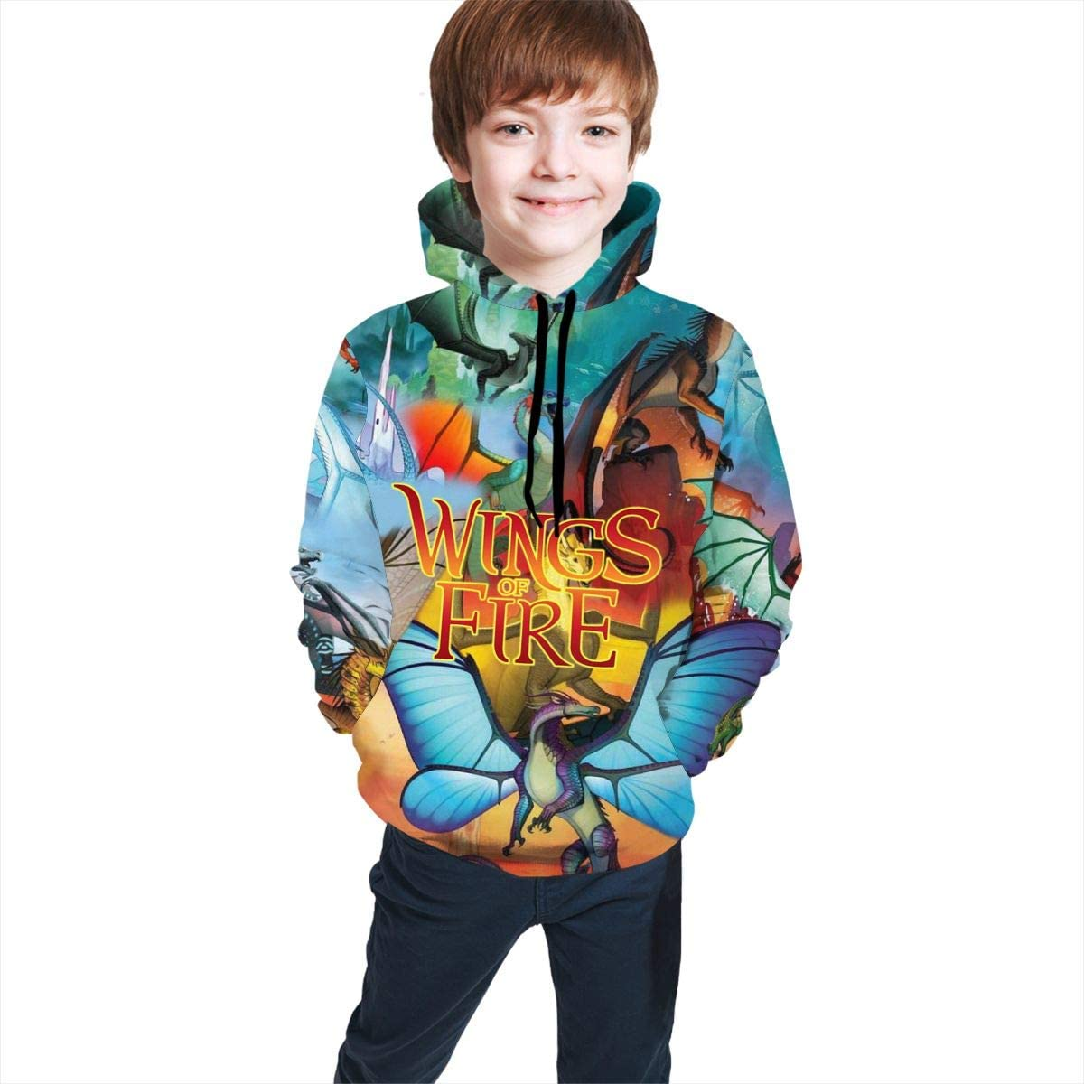 JHSZCSSDZS 3D Print Dragon Teen Black Quantity limited Sweatshirt NEW before selling Hoodie Boys For
