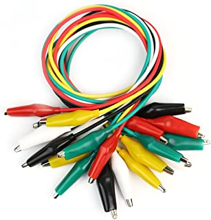 Colored Light-duty Jumpers Cable Test Leads with Alligator Clips For Circuit Board Works