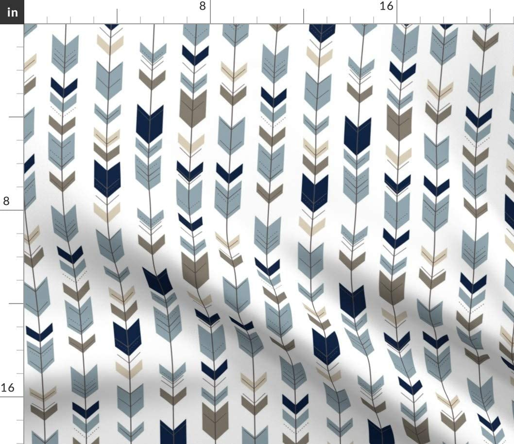 Spoonflower Fabric Albuquerque Mall - Fletching Arrows Woods Rustic Scale C Brand new Small