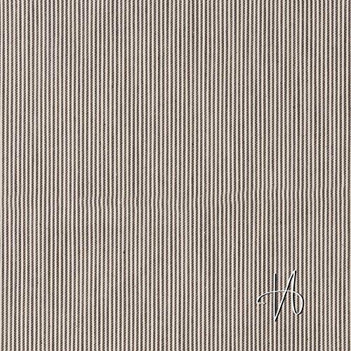 MIRABLAU DESIGN Stoffverkauf Baumwolle Köper Jeans schwarz creme weiß gestreift (1-233M), 0,5m