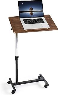 """Tatkraft Gain hemmakontor mobil rullande sängbord, sjukvård överbäddsbordsdator med hjul, lämplig för 7-17""""bärbara datore..."""